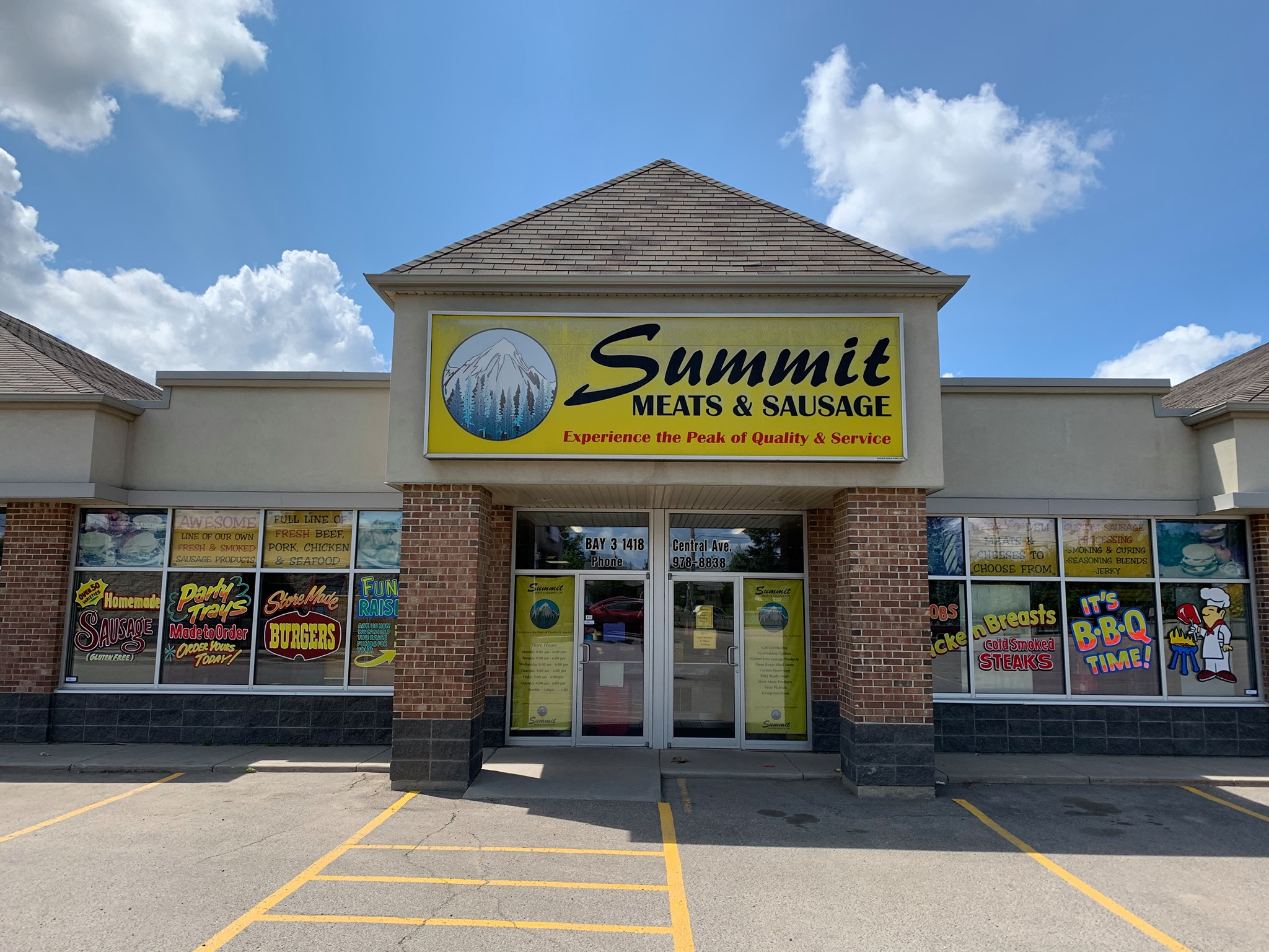Photo taken of the Summit Meats and Sausage building exterior